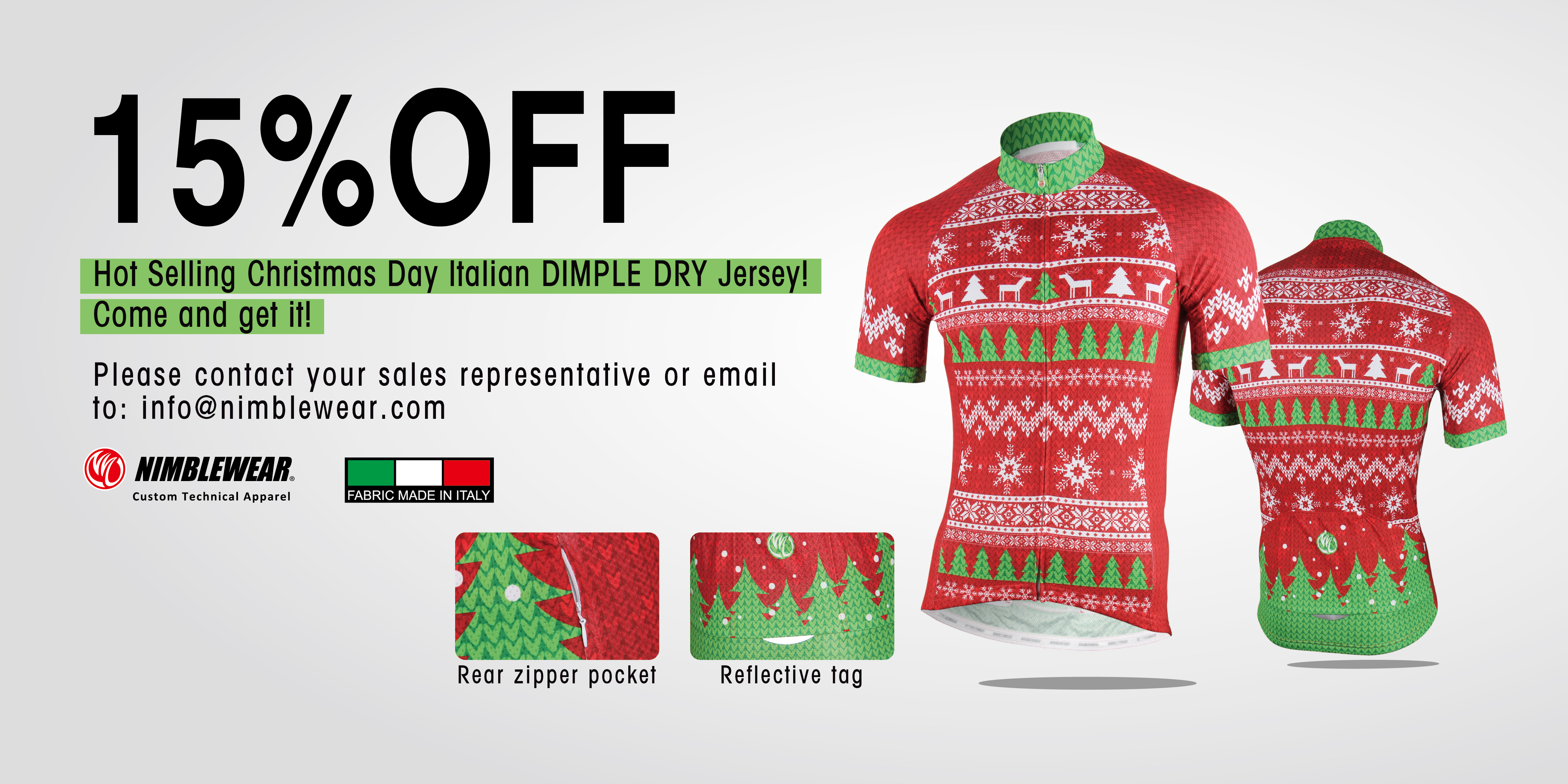15%OFF for Christmas Italian Dimple Dry Cycling Jersey